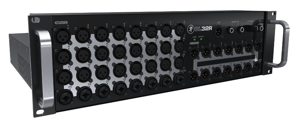 32-Channel Rackmount Digital Mixer with iOS Connectivity