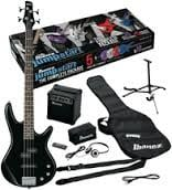 Jumpstart Electric Bass Package with Black Electric Bass