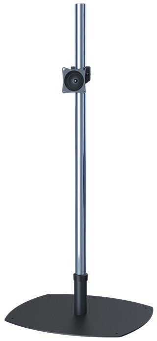 "Low-Profile Single-Pole Floor Stand with 60"" Chrome Pole and VPM"