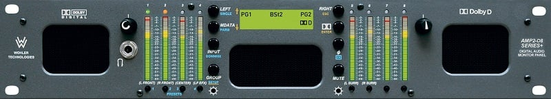 2U Rackmount 8-Channel Audio Monitor with 3G/HD/SD-SDI, Dolby AC-3 and AES Inputs