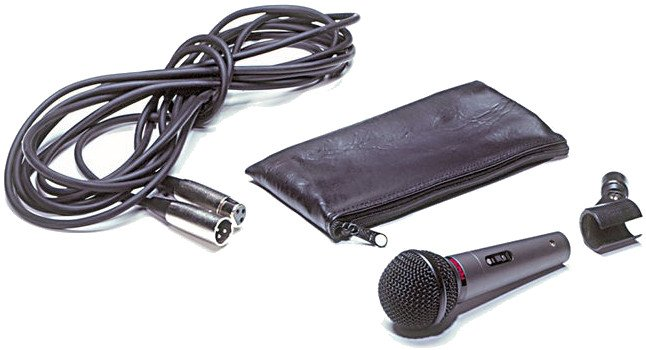 Cardioid Dynamic Microphone with Cable, Stand Clip, Pouch