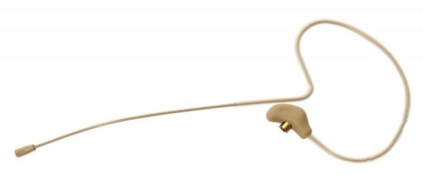 Omnidirectional Condenser Headset Microphone for Shure Wireless Systems in Tan