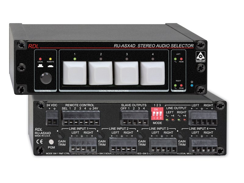 4 Input / 1 Ouput Stereo Audio Selector