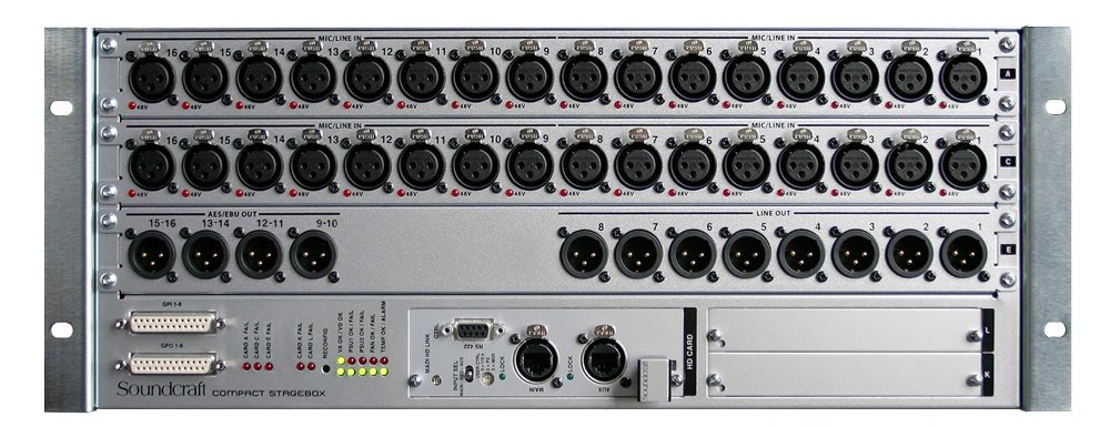 32 Input / 16 Analog Output Stagebox with CAT5 for VI Consoles
