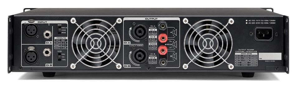 2 Channel 1900 Watt at 4 Ohms Power Amplifier