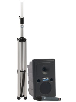 Go Getter Basic Portable PA System with Speaker Stand and Choice of Wireless Transmitter