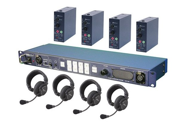 Datavideo Corporation ITC100-HP1K ITC-100 Intercom System Combo Product Package for Four Users ITC100HP1K