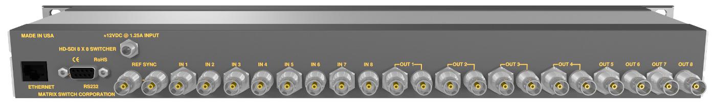 Matrix Switch Corporation MSC-1HD1616S  16x16 3G/HD/SD-SDI Video Router MSC-1HD1616S