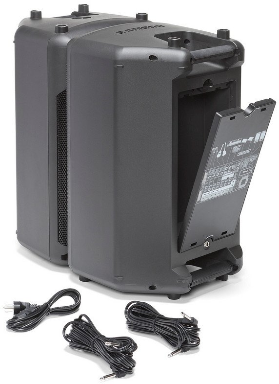 2x 500W Portable PA System with 10 Channel Mixer