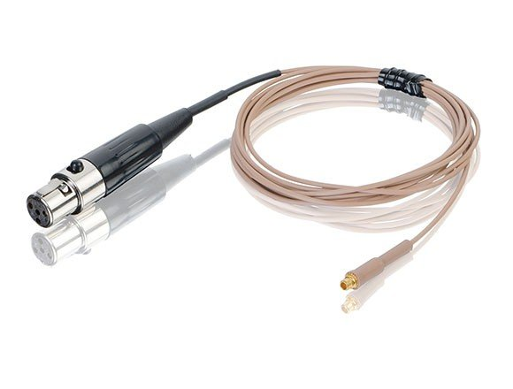 Tan Replacement Cable for E6 Microphone with TA4F Connector for Telex