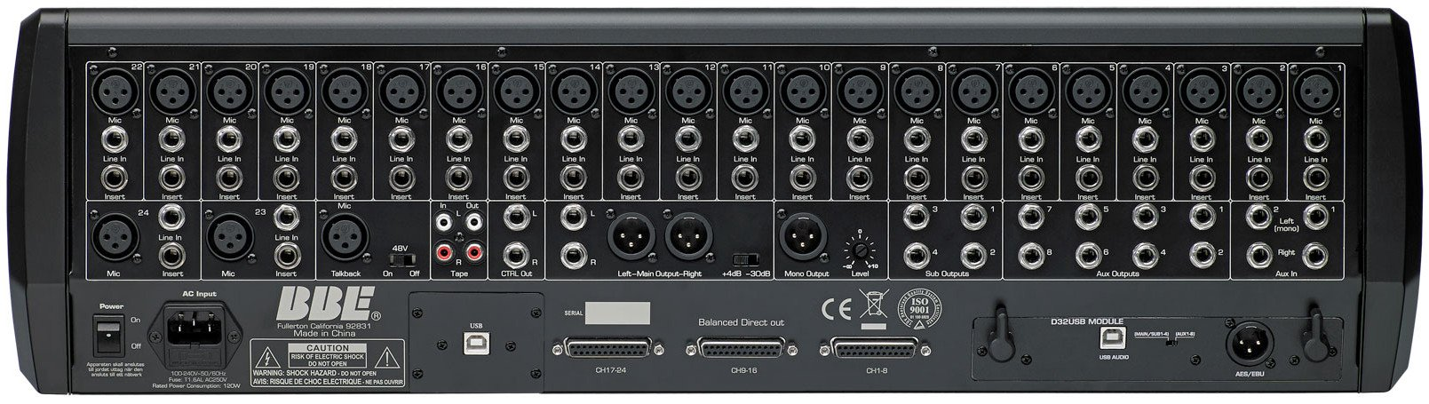 24-Channel Digital Mixer with BBE Sonic Maximizer Processing and Flight Case
