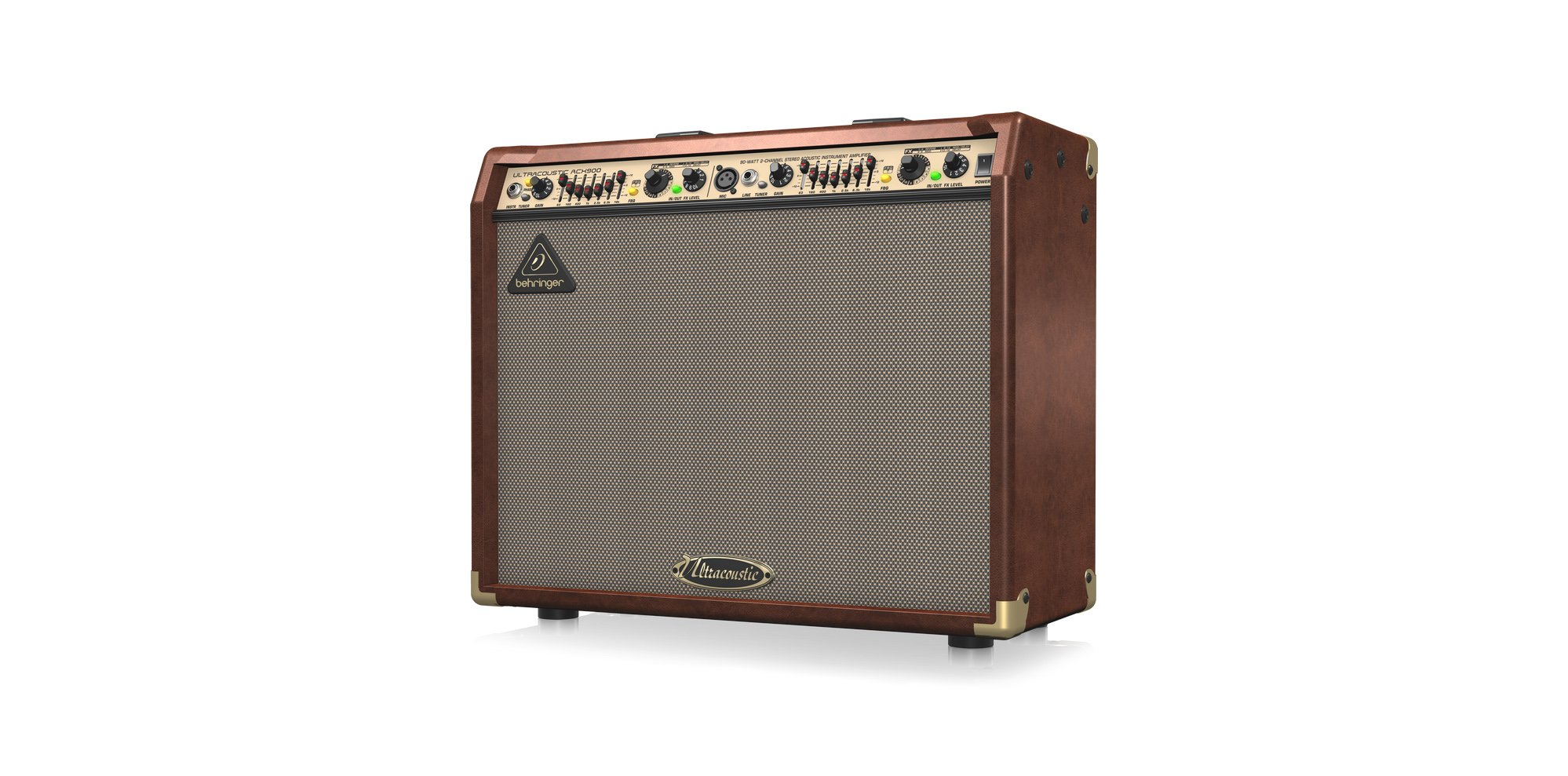 """2x90W 2-Channel 2x8"""" Acoustic Guitar Combo Amplifier with Effects"""