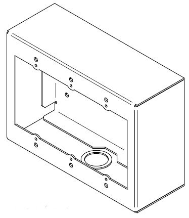 3 Gang Surface Mount Wall Box in White