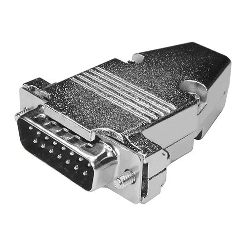 D-Sub 15-Pin Connector with Metal Hood