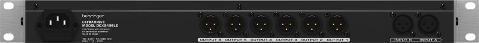 Behringer ULTRADRIVE DCX2496LE 24-Bit / 96 kHz Loudspeaker Management System DCX2496LE