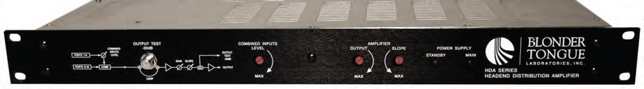 8 Port 860 MHz Headend Distribution Amplifier and Combiner