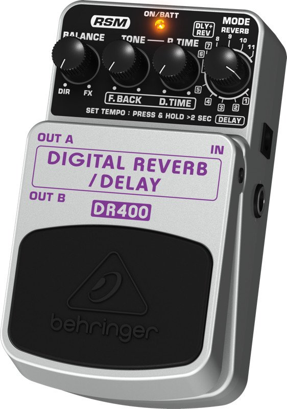 Digital Stereo Reverb/Delay Effects Pedal