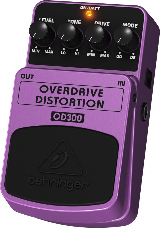 2-Mode Overdrive/Distortion Effects Pedal