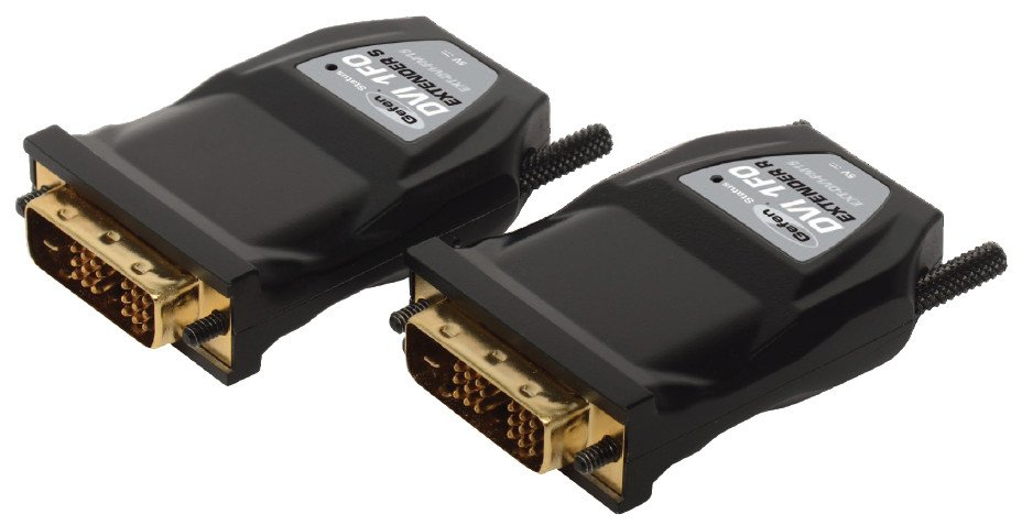 Compact DVI Fiber Optic Extender Dongle Modules with Virtual EDID