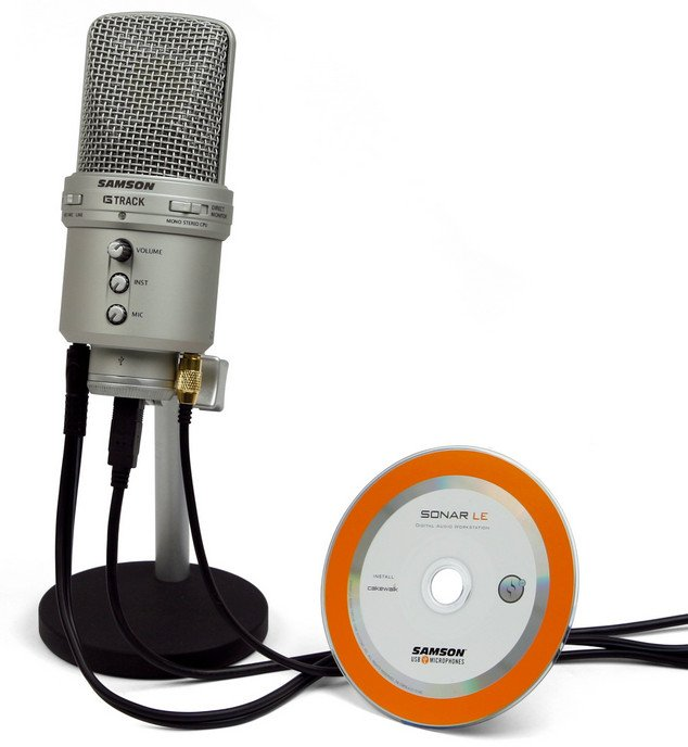 USB Condenser Microphone with Audio Interface