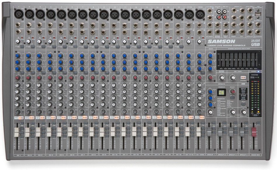 20 Channel 4 Bus Professional Mixing Console with USB
