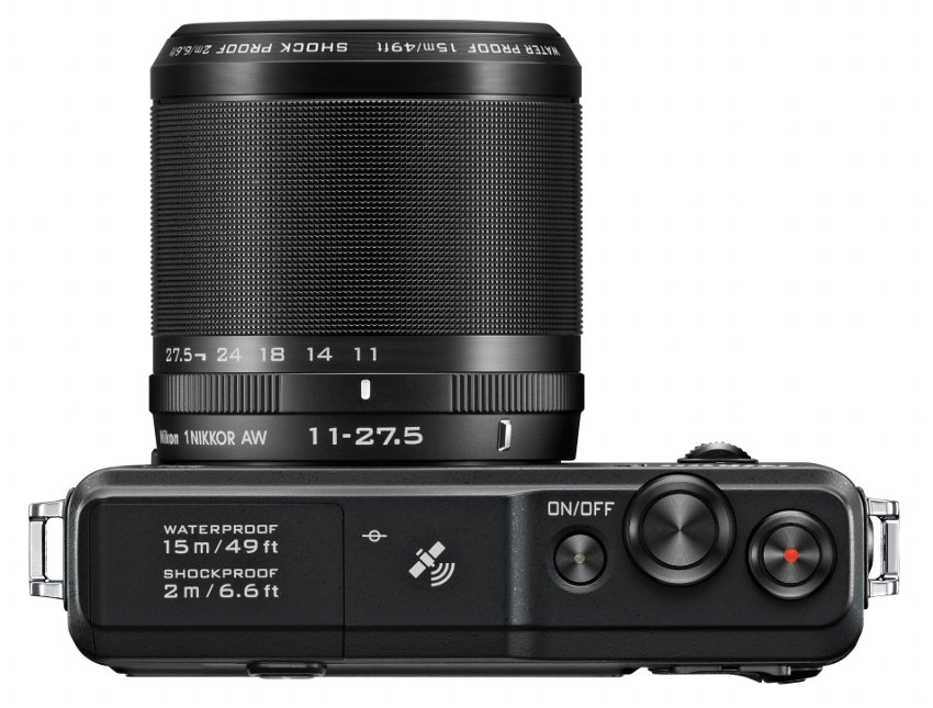 14.2 MP 1 AW1 Camera in Black with NIKKOR AW 11-27.5mm f/3.5-5.6 Zoom Lens