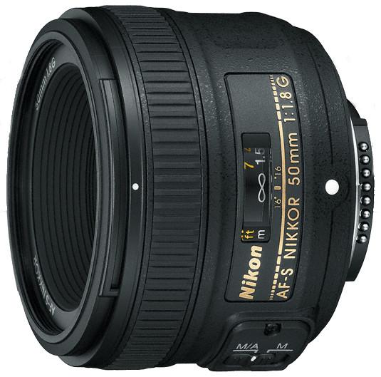 AF-S NIKKOR 50mm f/1.8G FX-Format Prime Fixed Lens