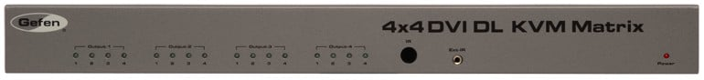 4x4 DVI KVM Dual Link Matrix Switcher