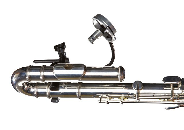 Wireless Clip-On Microphone System for Alto/Bass Flute