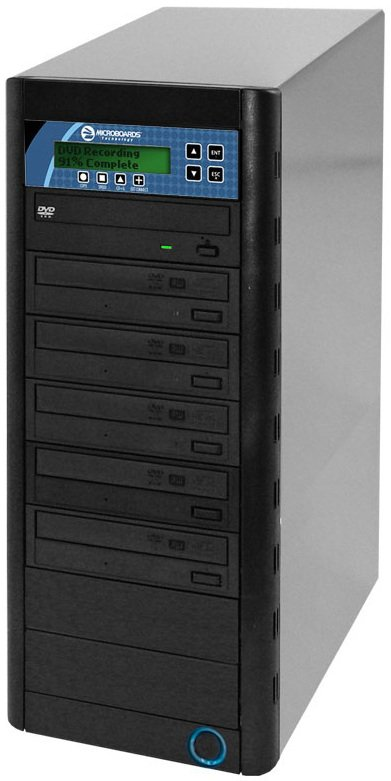 5-Bay CopyWriter Pro CD/DVD Tower Duplicator with 500GB Built-In HDD