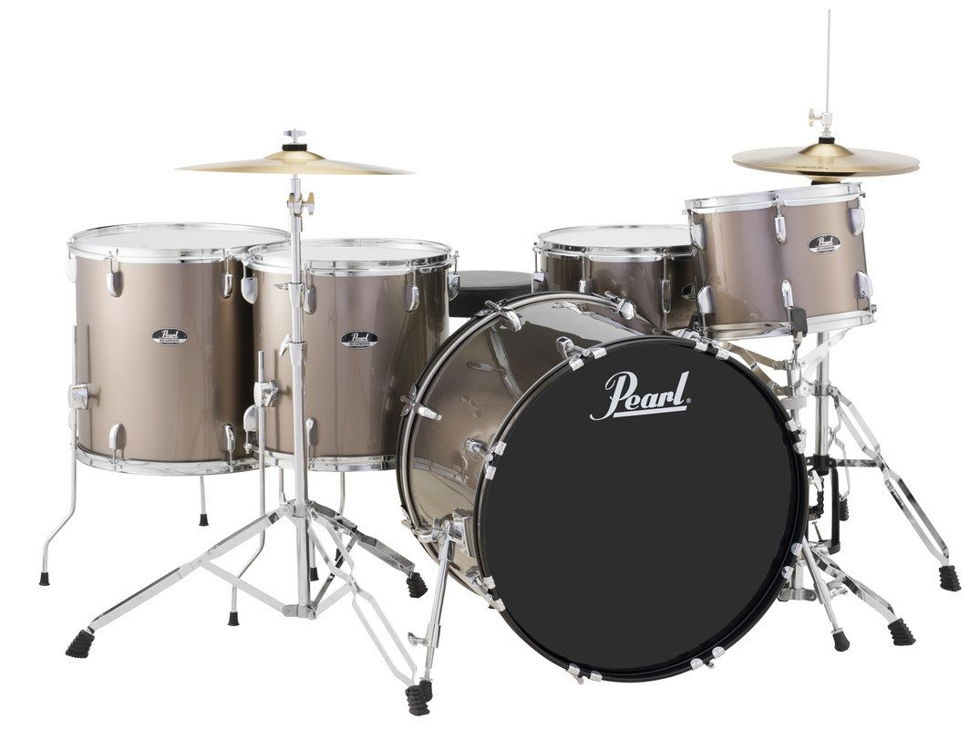 pearl drums rs525wfc 5 piece drum set in bronze metallic with cymbals and hardware full compass. Black Bedroom Furniture Sets. Home Design Ideas