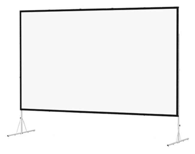 "72"" x 72"" Fast-Fold Deluxe Screen System with Dual Vision Surface"