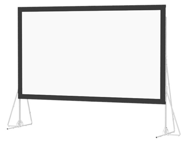 """257"""" 16:9 HDTV Heavy Duty Fast-Fold Deluxe Screen System with Dual Vision Surface"""