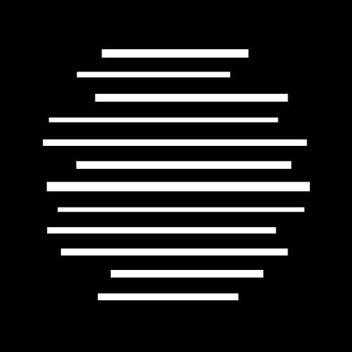 Steel Gobo in Flat Lines Breakup Pattern Design