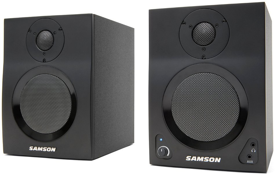 "2-Way Active Studio Monitors with 4"" Woofers and Bluetooth"