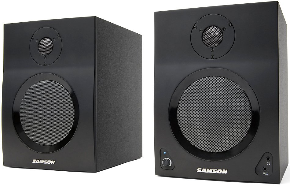 """2-Way Active Studio Monitors with 5"""" Woofers and Bluetooth"""