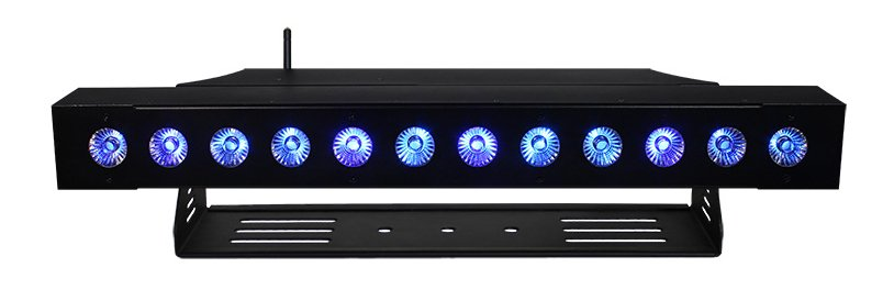 12 x 15W RGBAW + UV Batten Style LED Wash with Wireless DMX Receiver