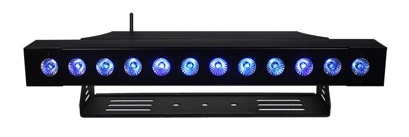 12 x 15W RGBAW + UV Batten Style LED Wash with Wireless DMX Receiver