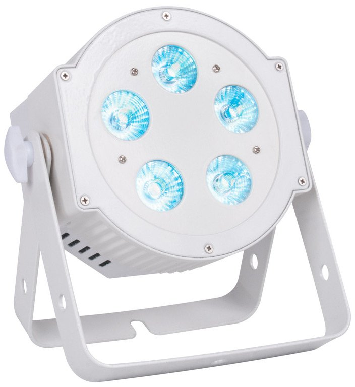 6-in-1 Hex LED Par with 5x10W LEDs in White