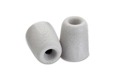 3 Pairs of Medium Foam Tips for Earbuds in Platinum