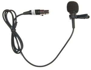 Compact Portable AC Powered PA System with Wireless Receiver, Bodypack Transmitter and Lavalier Microphone