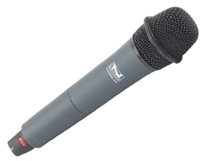 Compact Portable AC Powered PA System with Wireless Receiver and Handheld Microphone Transmitter