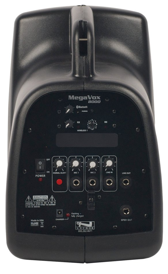 MegaVox Pro Portable PA System with Bluetooth Connectivity and (1) UHF Wireless Reciever