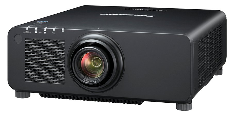 6500 Lumens WUXGA 1-Chip DLP Laser Light Projector with Lens in Black