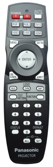Remote for PT-DW740, PT-DX810 and PT-DZ680