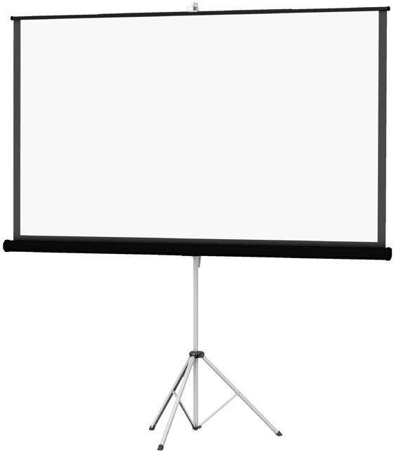 """Picture King 60 x 80"""" Screen with Matte White Surface and Black Carpet Finish"""