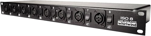 Line Level Isolator, Rack Mount 8ch XLR