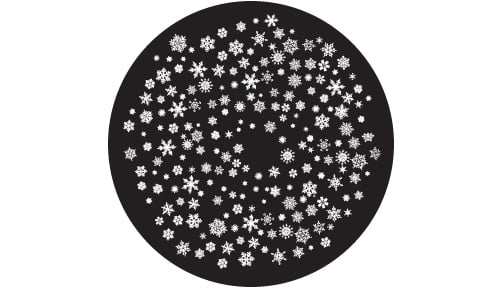 """Snowflakes 4 Small"" Glass Gobo"
