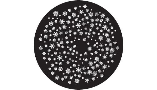 """Snowflakes 4 Small"" Glass Gobo"