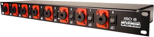 "Line Level Transformer aisolator, 8ch, TRS 1/4"" connectors"
